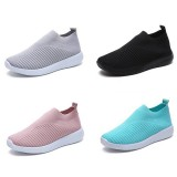 NIS Women Casual Shoes Woman Plus Size Breathable Mesh Slip-on Women's Vulcanize Shoes Ladies Sneakers New Spring Summer Running