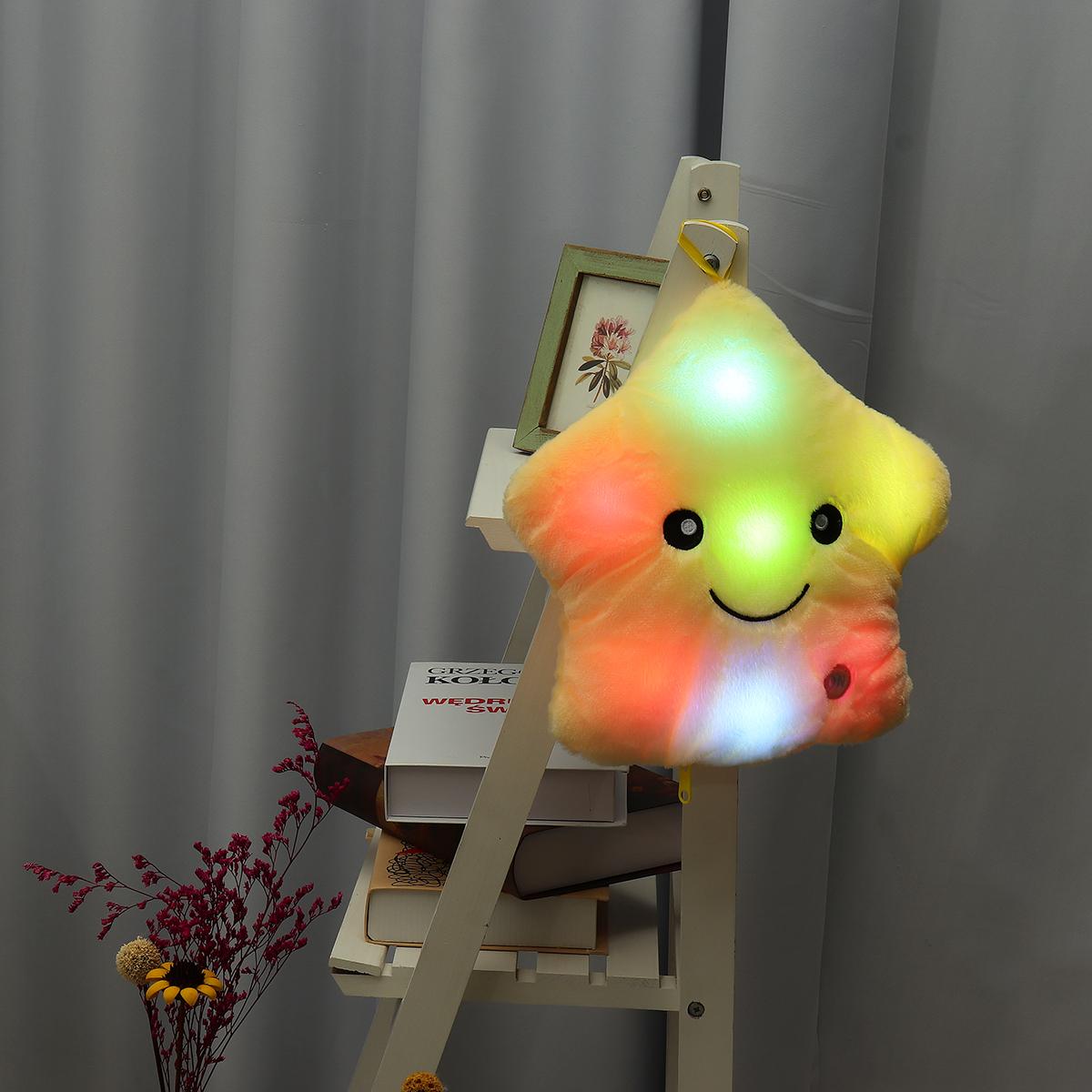 LED Light Star Stuffed Plush Cushion Sofa Pillow Glow Kid Toy Gift Home Decor UK