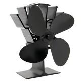 IPRee 4 Blades Fireplace Fan Thermal Heat Power Stove Fan Wood Burner Fan