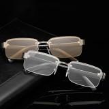 Rimless Reading Glasses Men Titanium Old Women Eyeglasses Presbyopic Hyperopia Glasses