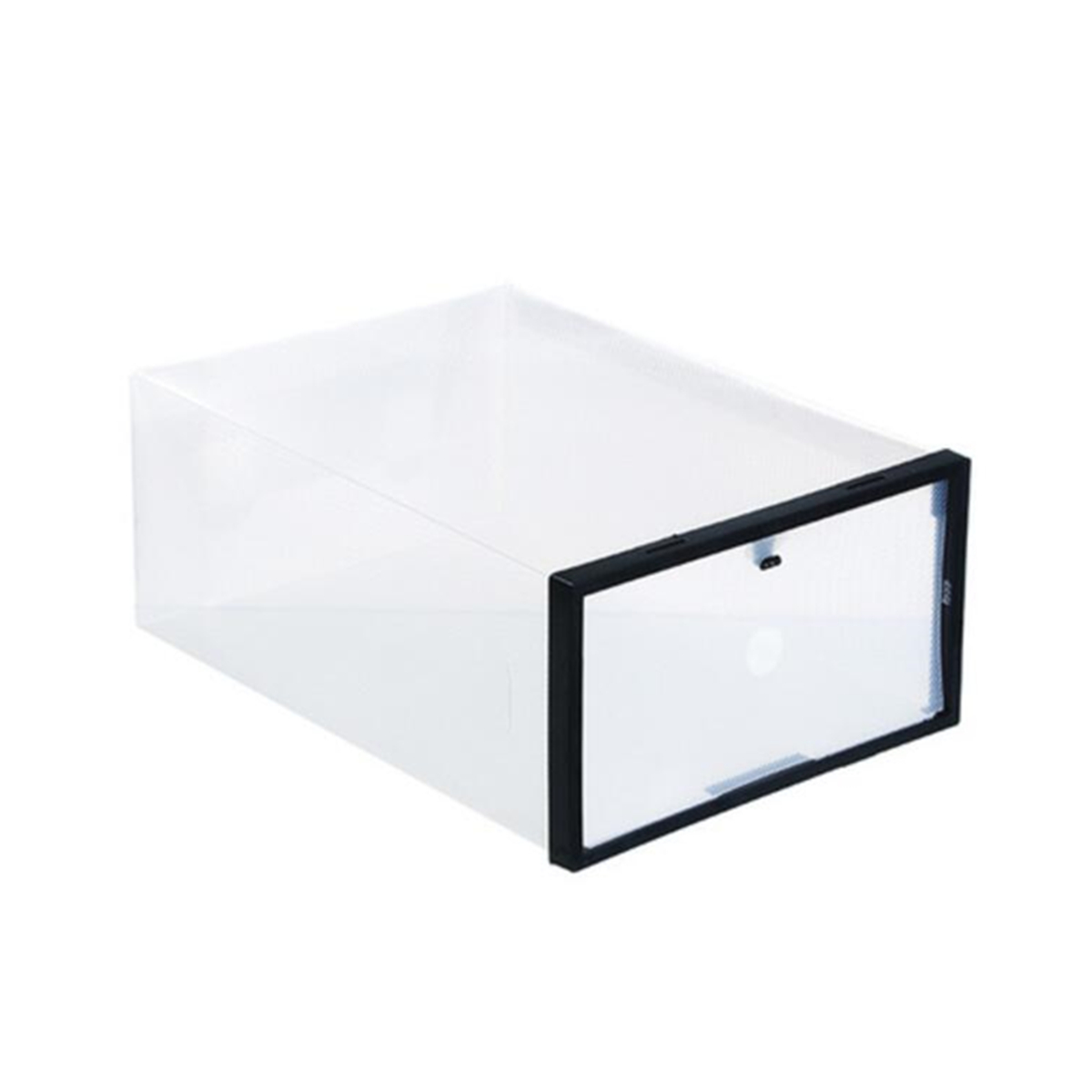 Foldable Clear Plastic Shoe Boxes Storage Organizer Stackable Tidy Display Box Baskets