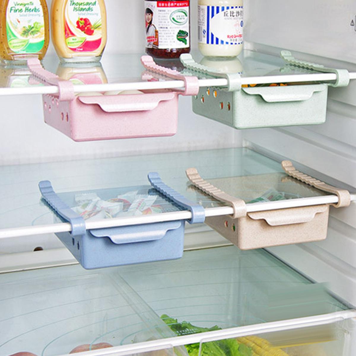 Refrigerator Storage Box Fridge Fruit Food Container Rack Home Kitchen Organizer