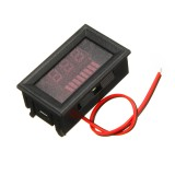 5pcs 12-60V ACID Red Lead Battery Capacity Voltmeter Indicator Charge Level Lead-acid LED Tester