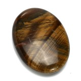 Tiger's Eye Carved Palm Worry Stone Gua Sha Healing Crystal Chakra Reiki Balancing for Pressure Relief Manual Massager