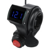 36V/48V/60V/72V Thumb Throttle w/ LCD Digital Battery Voltage Display For Ebike Scooter