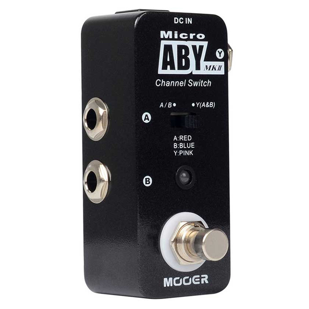 MOOER MAB2 ABY MK2 Guitar Effects Pedal with Channel Switch Pedal Function