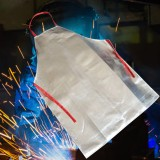 Heat Resistant Work Apron 1000 Aluminum Fabric Safety Apron High Temperature Working Thermal Radiation Aluminized Aprons
