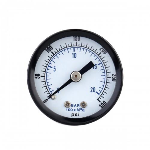 TS-40-300PSI 0-20Bar 0-300PSI Pressure Gauge Mini Pressure Gauge Manometer Air Compressor Pneumatic Hydraulic Fluid Pressure Meter Tester