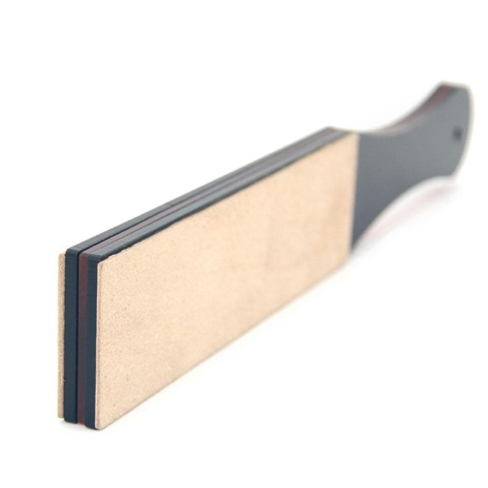 Manual Double-layer PU Leather Shaving Strop Straight Razor Sharpener Strap Belt Necessary Shaving Strap Tool Kitchen Sharpen Stone