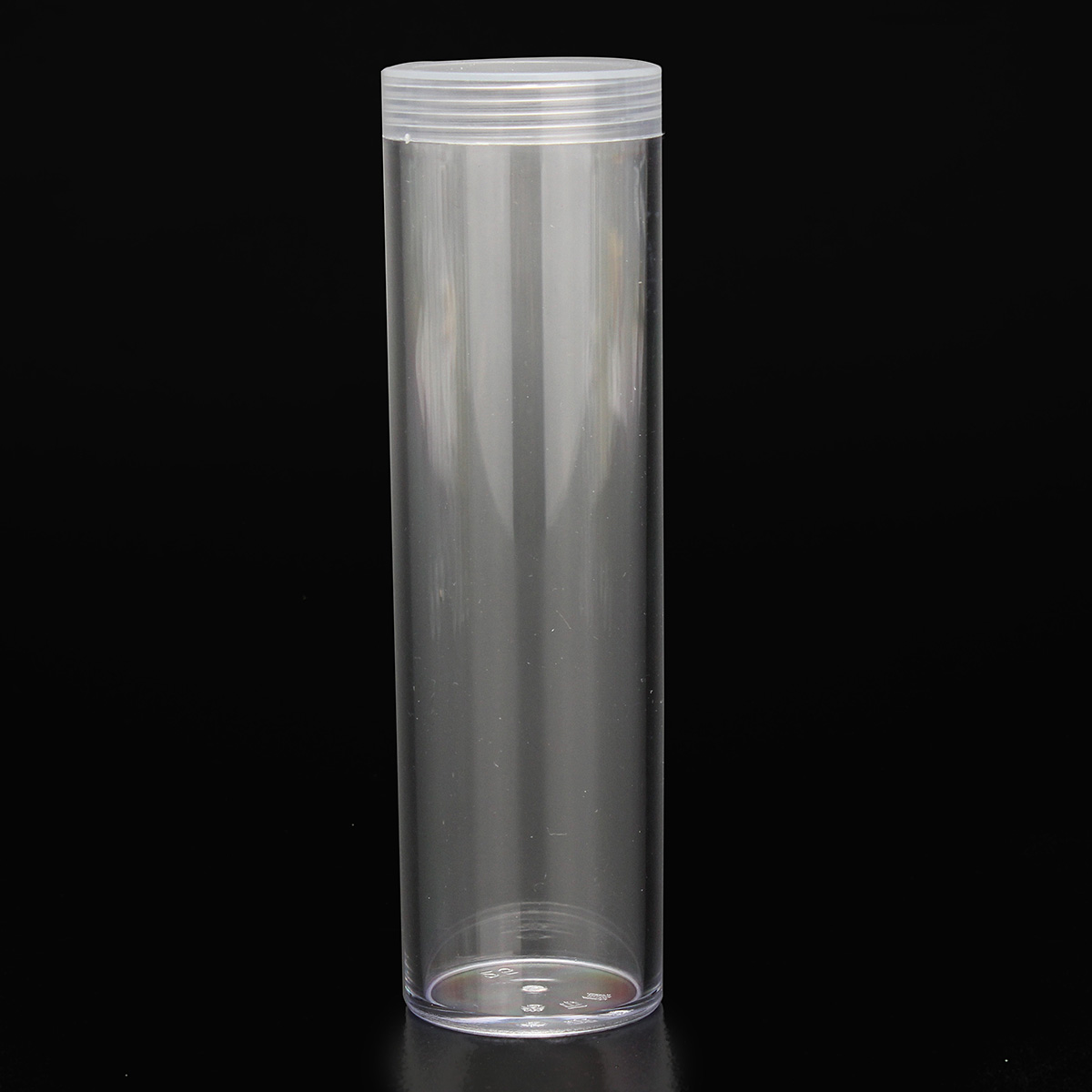 10Pcs/Set 25mm Round Clear Plastic Coin Tube Coin Holder Container for Quarter Dollar Storage Tube Screw