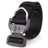 ENNIU FA39 125cm x3.8cm Nylon Wrist Belt Punch Free Quick Release Inserting Buckle Tactical Belt Leisure Belt