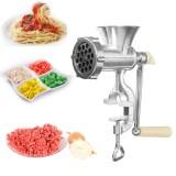 Aluminum Manual Meat Grinder Chopper Hand Operated Mincer Stuffer Noodle Sausage Filler Kibbe Maker Machine