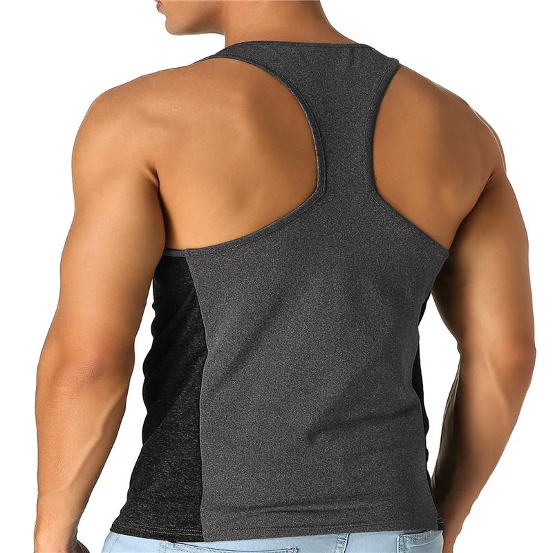 Men's Vest Sleeveless T-shirt Jersey Stretch Cotton Fitness Sports Vest Xiaomi T-shirt