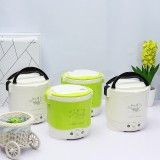 12V 24V 1L  100W Mini Rice Cooker Steamer Electric Food Steamer Lunch Box Portable