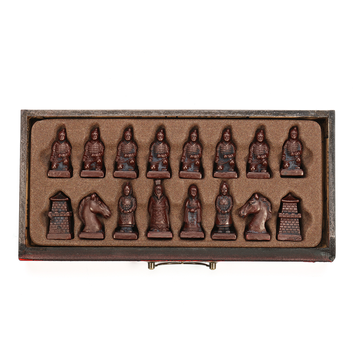 Vintage Wooden Chinese Chess Board Table Game Set Pieces Gift Toy Collectibles
