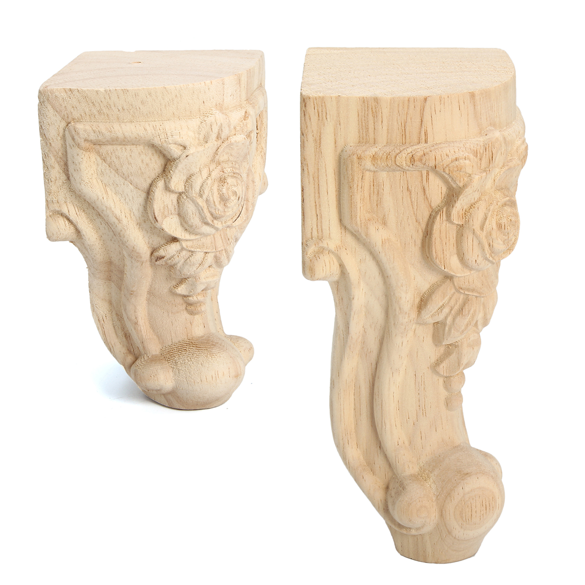 4pcs Solid Wood Carved Furniture Foot
