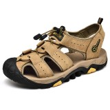 Comfy Genuine Leather Soft Soles Outdoor Hiking Sandals