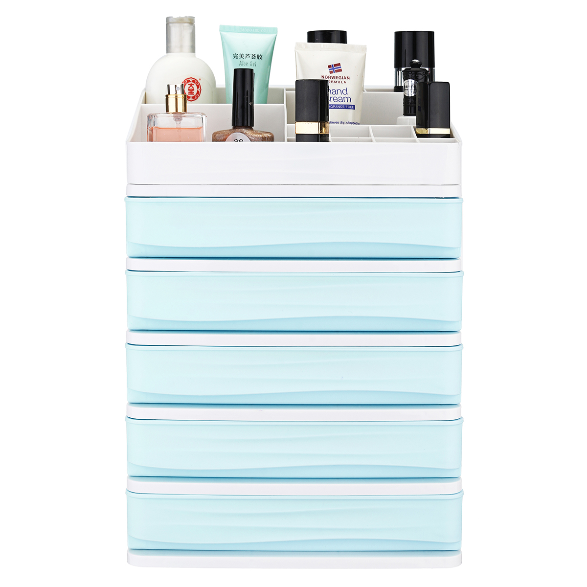 2/3/4/5 Tier Layer Plastic Desktop Organizer Baskets Drawer Jewelry Makeup Case Saving Space Simple Table Storage Box