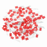 100pcs 2*5*7mm Square LED Red Light-emitting Diode 2X5X7 LED Diode