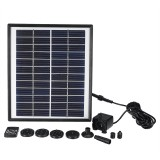 DC35-1218 Solar Power Fountain Water Pump Garden Solar Fountain Landscape Solar Panel Floating Fountain
