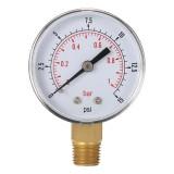 TS-50-15psi 0/15 PSI 0/1 Fuel Air Compressor Low Pressure Gauge Bar Meter Hydraulic Tester Dial Manometer