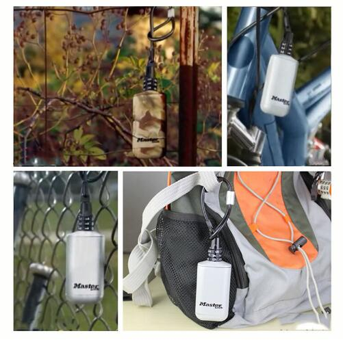 Mini Key Safe Box Outdoor Backpack Hanging Metal Hidden Password Lock Zinc alloy Fixed Code Lock Portable Key Storage Box