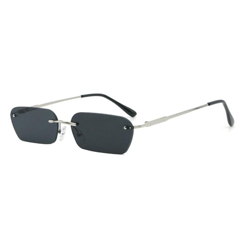 Unisex Vogue Vintage Metal Marine Frameless Sunglasses Outdoor Travel Beach Sunglasses