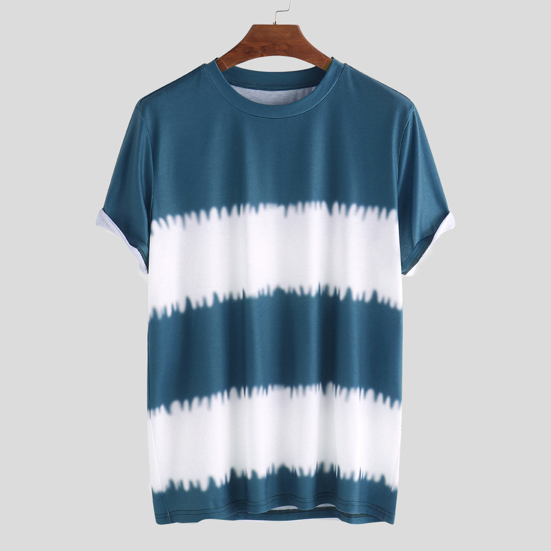 Men Tie Dye Loose Fit Short Sleeve Casual T-Shirts