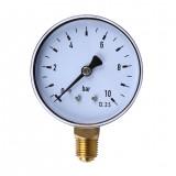 TS-60-10 1/4 Inch NPT Side Mount 10 Bar Metal Water Oil Air Compressor Pressure Gauge Manometer Pressure Measuring Tool