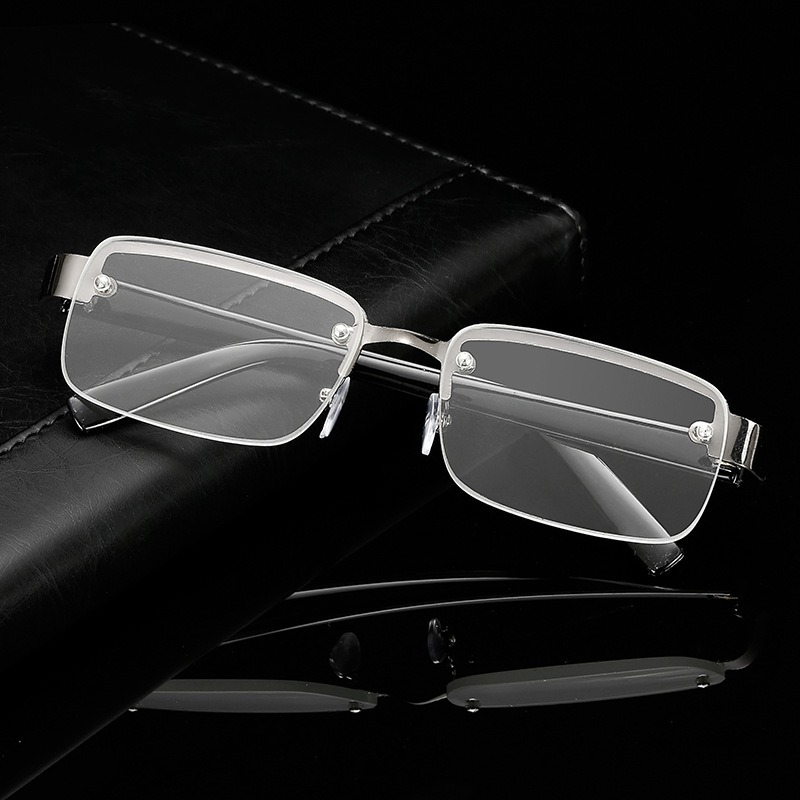 Rimless Reading Glasses Men Titanium Old Women Eyeglasses Presbyopic Hyperopia Glasses