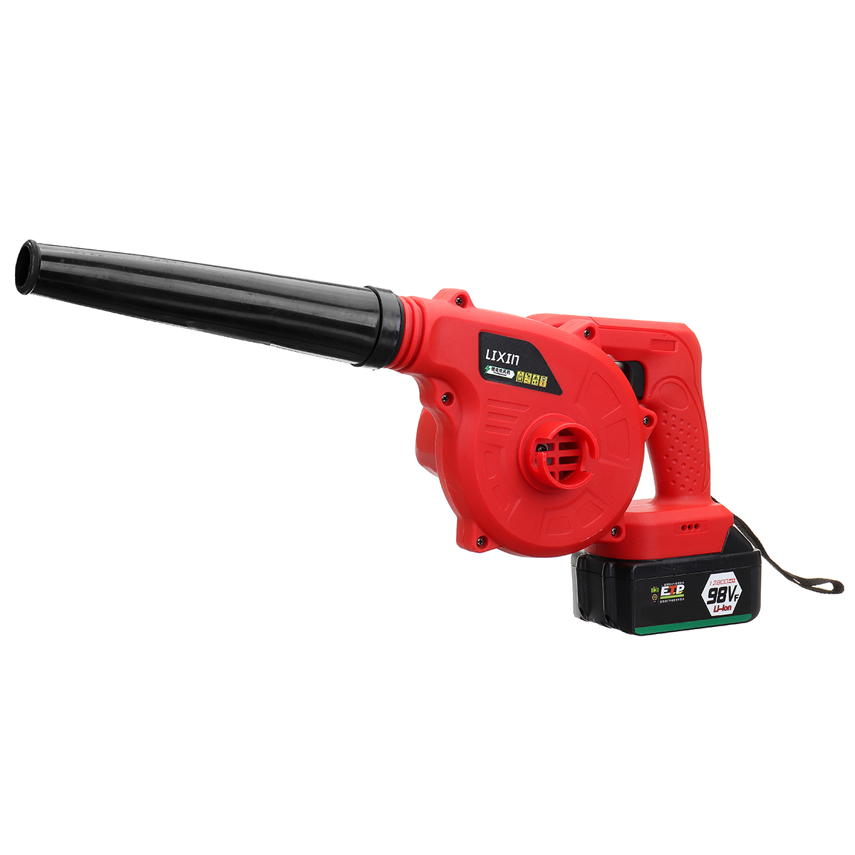 220V 12800mAh Lithium Battery Multifunctional Air Blower Dual-use Suction Blower Electric Dust Removal Air Blower Cleaner