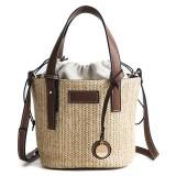 Straw Beach Bag Bucket Bag Handbag Shoulder Bag For Women