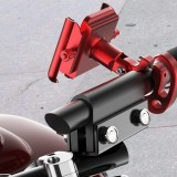 Aluminum Alloy Bike Motorcycle Phone Holder 360 Degree Rotation For 4.0 Inch – 6.4 Inch Smart Phone