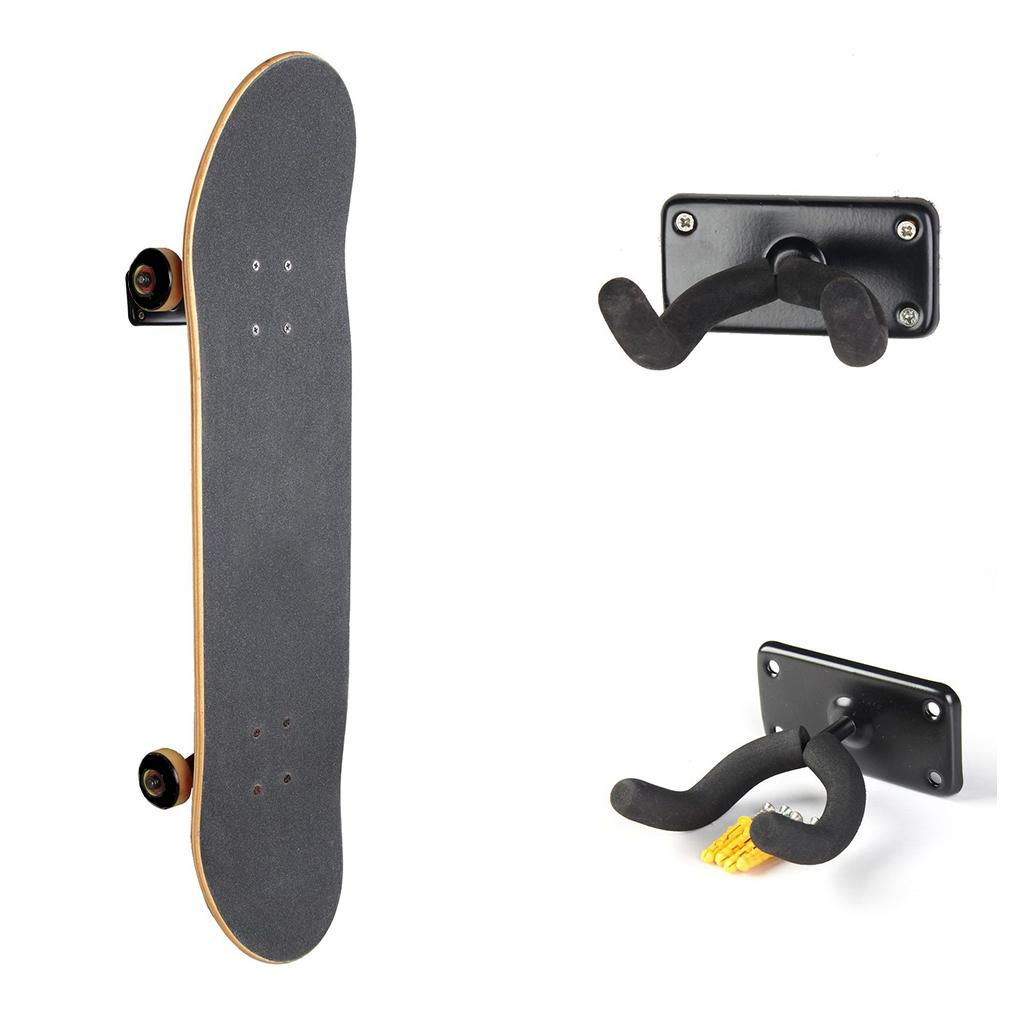 Maxfind Wall Mount Skateboard Holder Home Hook Protector Clip Longboard Deck Home Hooks