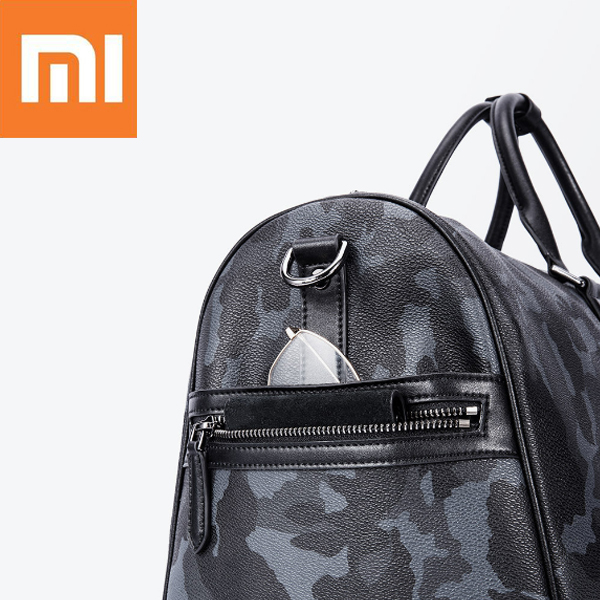 Xiaomi VLLICON 35L Outdoor Travel Leather Bag Camouflage Large Capacity Sports Gym Fitness Handbag Shoulder Bag