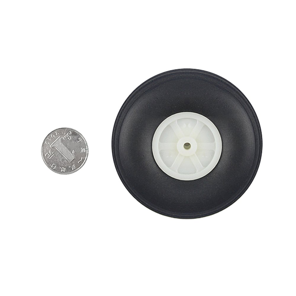 2 Pieces 44mm Diameter PU Simulation Wheel Wheels For RC Airplane