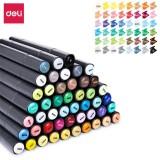 Deli 70701 1PCS 24/36/48/60 Color Marker Pens Set Double-headed Marker Pen Hand-painted Design Artist Marker Pens Gift for Kids Children