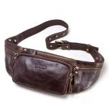 Men Genuine Leather Casual Outdoor Crossbody Bag Vintage Waist Bag