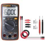ANENG AN8001 Orange Professional True RMS Digital Multimeter 6000 Counts Backlight AC/DC Ammeter Voltmeter Resistance Capacitance Frequency Tester + Test Lead Set