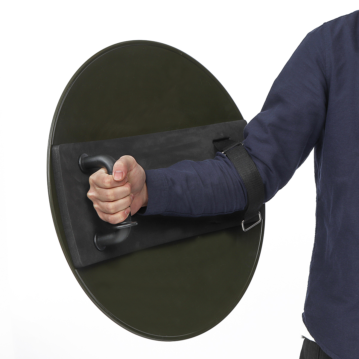 PC Thicken Round Anti-Riot Handheld Shield for Police Tactical CS Campus Securit