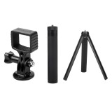 Sunnylife OSMO Pocket Adatper Mount Gimbal Expansion Bracket with 14.8cm-66cm 6 Sections Extension Rod Stick and Tripod Accessories for DJI