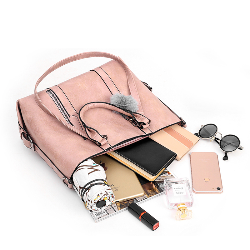 4 PCS Women Casual Minimalist Handbag Shoulder Bag Crossbody Bag Clutch Card Holder
