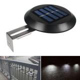 2pcs 9 LED Solar Powered Wall Light Waterproof Outdoor Garden Fence Landscape Lamp