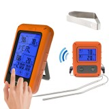 TS-TP20 Remote Wireless Touch Screen Food Dual Temperature Probe Digital Thermometer Large Screen with Timer  Digital Meat BBQ Oven Thermometer