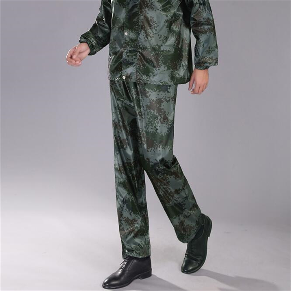 Camouflage Raincoat Camping Hiking Motorcycle With Waterproof Face Mask Adult Rainwear Suits