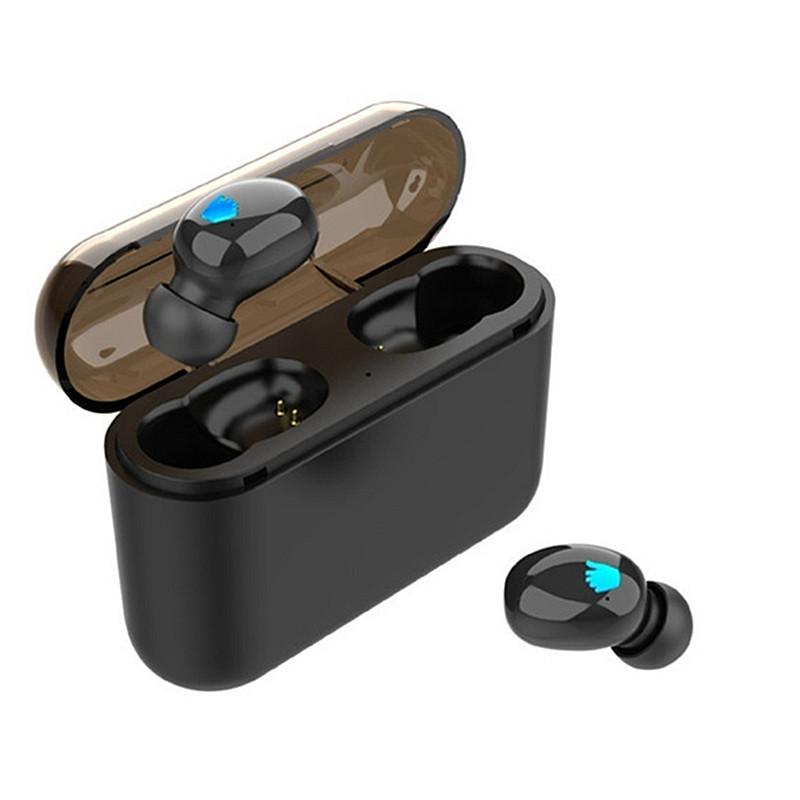 Portable True Wireless TWS Single Earbuds bluetooth 5.0 Stereo In-ear Sport Earphone With Mic for Smartphones