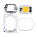5pcs High Power 50W Warm White LED COB Light Chip with Lens for DIY Flood Spotlight AC220V