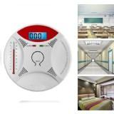 2 in 1 Carbon Monoxide Detector Fire Gas Sensor Monitor Warning Alarm Home Security Alarm