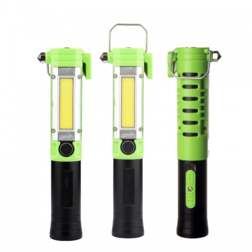 KXK-05 30W COB+LED 5Modes LED Work Light USB Rechargeable Outdoor Camping Emergency Flashlight LED Torch With Safety Hammer