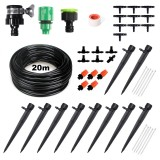 45pcs Drip Irrigation Kits Micro Irrigation Kits Distribution Tubing Hose DIY Garden Saving Water Automatic Mist Irrigation System